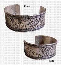 White metal shakti bangle