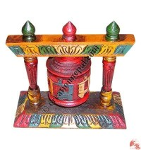 Table stand single prayer wheel