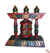 Single pannel stand prayer wheel