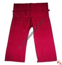 Shyama cotton plain wrapper-red