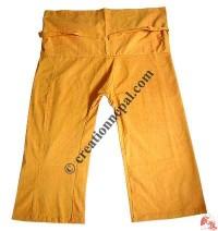 Shyama cotton plain wrapper-yellow