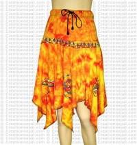 Tie-dye painted frills skirt