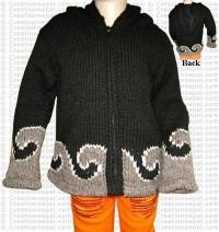 Natural color woolen kids jacket