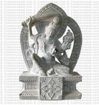 Manjushree - 9'' stone statue