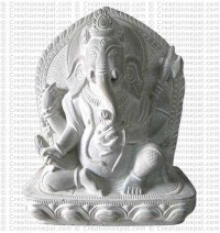 Ganesh - 8'' stone statue