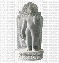 Standing Buddha - 12'' stone statue