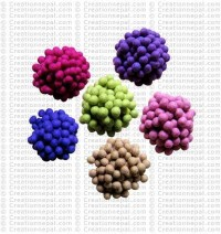 1 cm diameter felt balls (packet of 1000 balls)