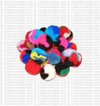 2 cm mixed color raw felt balls (packet of 500 balls)