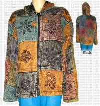 Cotton patch-work stone wash jacket