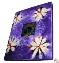 Tie-dye Peacock fin notebook