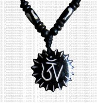 Tibetan OM sun amulet