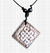 Square Endless knot art amulet