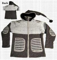 Stripes patch pocket jacket