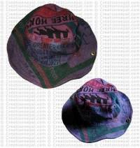 Jute printed hat2