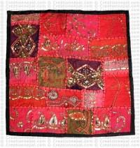Rajasthani Jari-Sitara cushion cover