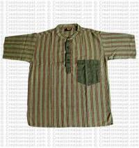 Short sleeves patch pocket adult shirt-Green