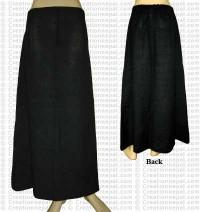 Plain color joined skirt-Black