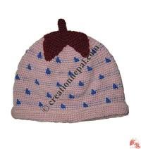 Strawberry design kids hats1
