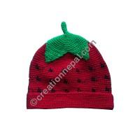 Strawberry design kids hat