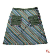 Middle length cotton skirt01