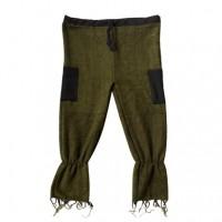 Loomed woolen frills trouser