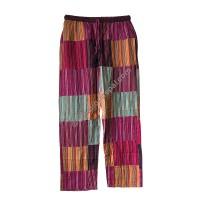 Cotton stripes-patch trouser
