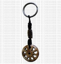 Bone carved key chain 16