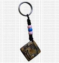 Bone carved key chain 17