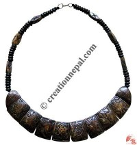 8-Auspicious signs bone necklace 4