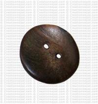 Plain round shape bone button (packet of 10)