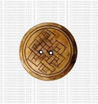 Endless knot bone button (Packet of 10)