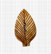 Leaf shape bone large button (packet of 10)