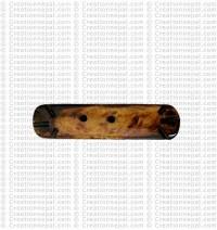 Vertical shape bone button (packet of 10)