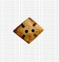 Parallel shape bone small button (packet of 10)