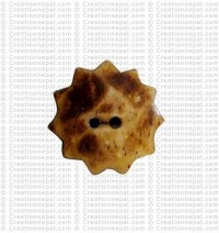 Wheel shape bone button (packet of 10)