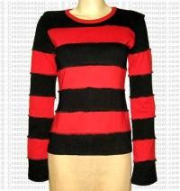 Stripes plain rib t-shirt