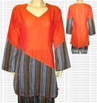 2-color cotton dress