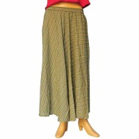 Cotton long skirt with elastic waist