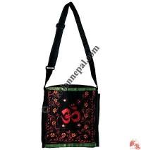 Om Emb cotton shoulder bag