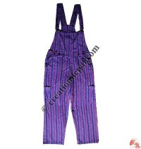 Thin stripes free size Dungaree
