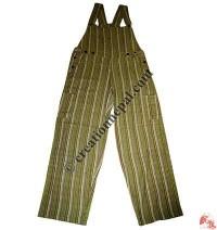 Thin stripes free size Dungaree2