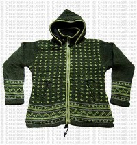 Woolen hooded jacket77