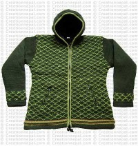 Woolen hooded jacket78