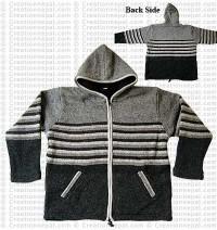 Woolen hooded jacket81