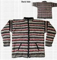 Woolen hooded jacket83