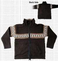 Woolen high-neck jacket2