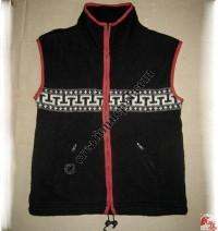Woolen high-neck vest