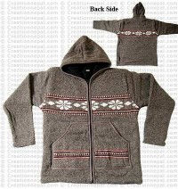 Woolen hooded jacket88