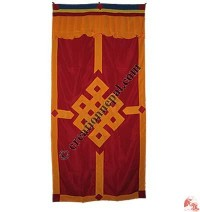 Endless knot design door curtain