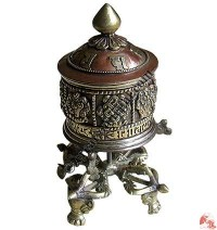 Table stand prayer wheel 8